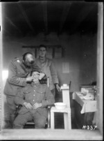 Taking a cast for fitting new dentures for a soldier during World War I