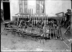 Captured German machine guns in World War I, France