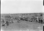 General view of the ring at a New Zealand Infantry Brigade horse show, France