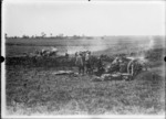 New Zealand guns in action in France during World War I