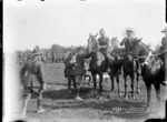 An officer winner at the New Zealand Infantry Brigade horse show, France