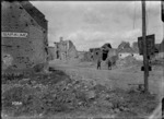 A view of Bapaume after entry by New Zealand troops, World War I