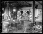 Inside the cookhouse at Hornchurch, England, World War I