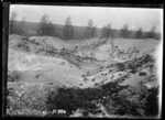 Crater caused by the destruction of German shells, World War I