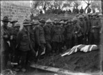 The funeral of Sergeant Henry Nicholas, VC, in World War I, France