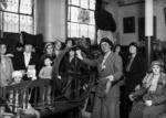 Elizabeth Jerome Spencer demonstrating spinning