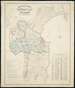 Map of the province of Hawke's Bay