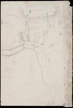 Collinson, Thomas Bernard, 1822-1902 :[Map of Waikanae Pa in 1846 or 1847?]  Pah. Church.  Jenkins.  Bare sand.