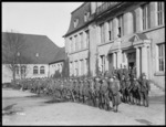 World War I soldiers about to leave from a New Zealand Reception camp in  Opladen, Germany