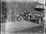 German prisoners burying a horse, France