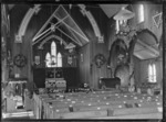 Interior of St Peter's Anglican church, Hamilton, at Easter