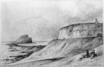 [Swainson, William]  1789-1855 :Newcastle Light H[ouse] & Nobby Island. NSW   Augt. 1851.
