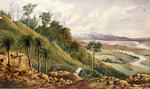 [Hoyte, John Barr Clark, 1835-1913] :[Gold mining near Kopu.  ca 1868]