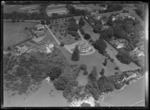 Aerial view of large house and grounds, Remuera, Auckland, New Zealand