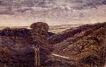 Pearse, John  1808-1882 :[Rimutaka and Wairarapa scenes]. Wairarapa (anglice Waidrop) Plains from the top of the Ruamahine Range. The Rimutaka is in the Ruamahine Range [sic]. [Sept.? 1854]
