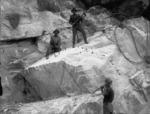 Men cutting blocks of marble, Kairuru quarry