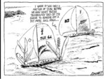 Greenall, Frank, 1948- :I guess it was only a matter of time before we saw what Swiss technology had up its sleeve to squeeze out a bit more sail area... Drawn for the Weekday News, [ca 10 February, 2003].