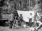 A party surveying the North Island main trunk line in Raurimu