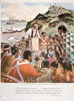 Morgan, Jack :Oihi Bay, Christmas Day 1814; Samuel Marsden preaching the first sermon to the Maoris.  [Auckland, Weekly News, 1964]