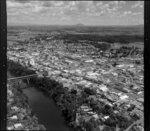 Central Hamilton, with Claudelands Bridge over Waikato River and Lake Rotoroa