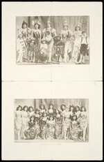 """Pollard's Opera Company :[Double-sided sheet of photographs from """"Djin-Djin"""", """"Boccaccio"""", """"Paul Jones""""]. Supplement to the """"Triad"""", 1 February 1898."""