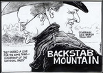"Backstab Mountain. Starring Don Brash and John Key. ""They shared a love for the same thing - leadership of the National Party."" 2 February, 2006."