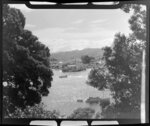 View of the dock at Whitianga, from Ferry Landing, Bay of Islands
