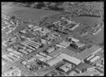 Keith Hay Homes premises and Mt Roskill Grammar School, Mount Roskill, Auckland