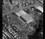 Unidentified factories in industrial area, Manukau City, Auckland, including holiday park