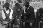 Schoolgirls, busstop Auckland 1973.tif