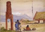 [Fox, William] 1812-1893 :Tapueharuru Taupo.  Pohipi's pah.  [1864?]