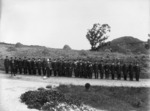 Winkelmann, Henry  1860-1931 :[Uniformed residents of the Ranfurly Veterans' Home on parade in Mount Roskill, Auckland]