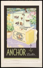 Rykers, Leslie Bertram Archibald, 1897-1976 :Taste the freshness. Anchor butter [Cows] / L Rykers [1936]