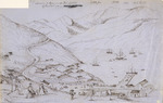 [Fox, William] 1812-1893 :Landing of passengers at Port Lyttleton 17 December 1850.  Charlotte Jane.  Randolph.  Cressy.  Sir G[eorge] Seymour.  Office of the Lyttleton Times. [1850 or 1851]