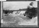 Waihi Mining company's hydro-electric works at Horahora - Photograph taken by Edward John Wilkinson