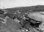 View of Titahi Bay and the beach, Porirua