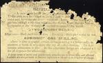 Columbia Roller Skating Rink :[Ticket/ invitation. Back. 1887].