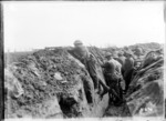 New Zealand soldiers in the front line on the Somme, La Synge Farm, France