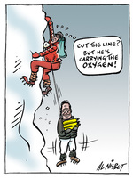"""""""Cut the line? But he's carrying the oxygen!"""" 29 August, 2008"""