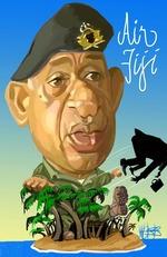 Frank Bainimarama. Air Fiji. 20 June, 2007.