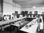 A class of girls during a cookery class at Wanganui Technical College