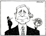 [Ear-plug. George Bush] 9 August, 2006.