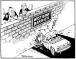 Tremain, Garrick 1941- :West Bank barrier. Otago Daily Times, 13 July 2004.