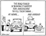 Tremain, Garrick, 1941- :The Iraq fiasco is making it harder for Americans to fill their tanks... at home...and abroad. Otago Daily Times [ca 15 October 2004]
