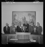 The Mayor of Petone (Mr Huggan) and councillors