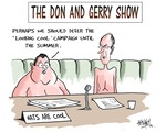 "The Don and Gerry show. ""Perhaps we should defer the 'Looking cool' campaign until the summer."" 21 July, 2006."