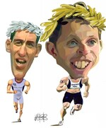 Webb, Murray, 1947- :Bevan Docherty and Hamish Carter. [ca 26 August 2004]
