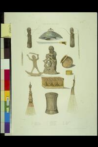 [Papuan implements, weapons, and sacred objects] de Sainson pinx.; Dunaime sc