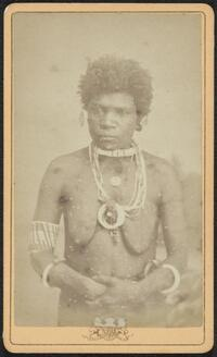 Female cannibal from the South Seas