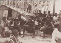 Villagers listening to addresses at the church congress, Honggo, Solomon Islands, 1906 / J.W. Beattie